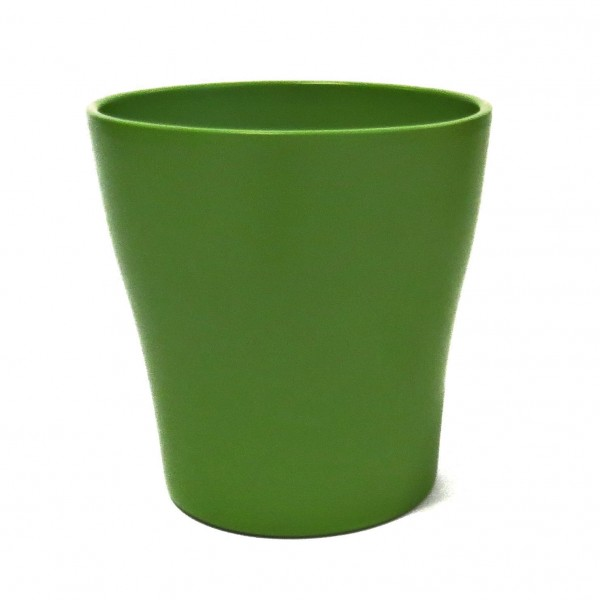 Übertopf Blumentopf Grün Keramik Modern Garten Balkon Deko 13,5 cm