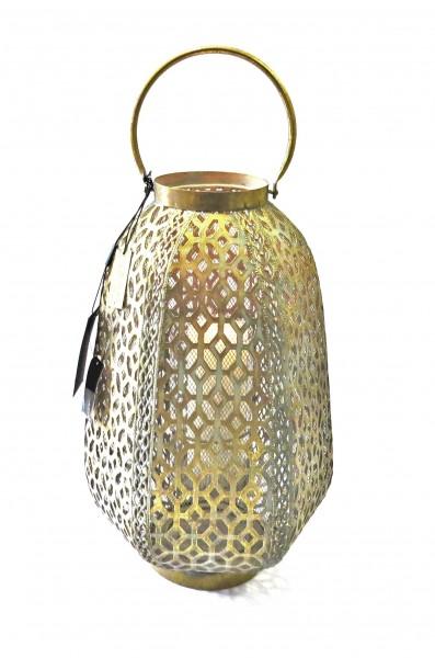 Laterne Windlicht Gold Antik Metall Glas Weihnachten Pinelake Lodge Colmore 41 cm