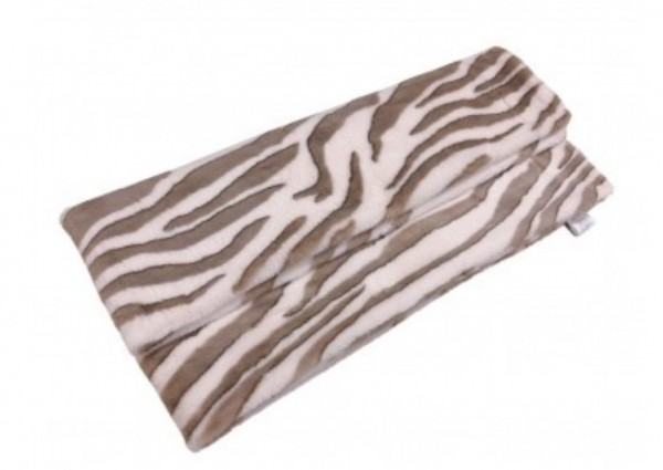 Decke Zebra Optik Samt Luxus Plaid Sofa Kuscheldecke Wohn Weiß Mars & More