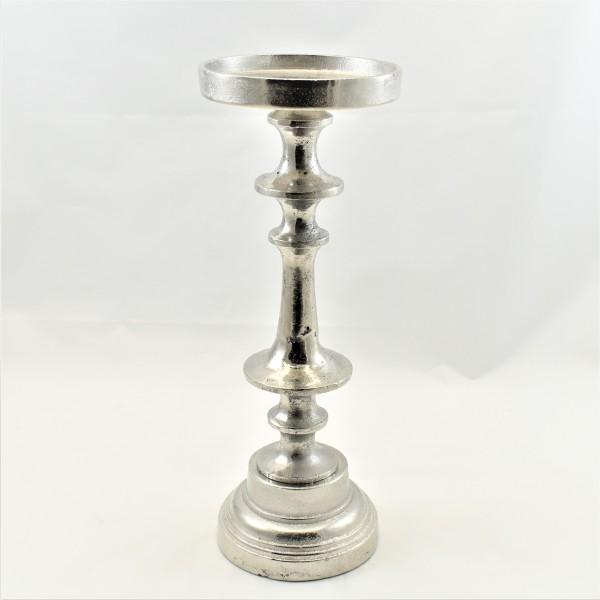 Kerzenständer Kerzenhalter Teelichthalter silber Colmore 11 x 12 x 31 cm