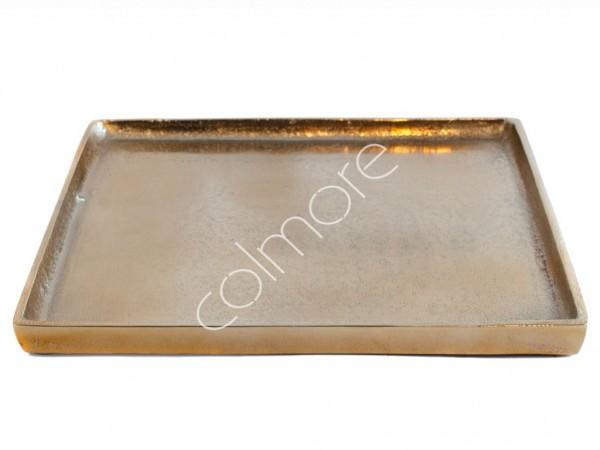 Tablett Untersetzer Deko Teller Kerzen Bronze Gold Quadrat Colmore Modern 26x26 cm