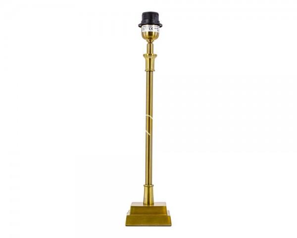 Lampe Lampenfuß Messing Modern Colmore 10x10x38 cm E27 Brass Gold
