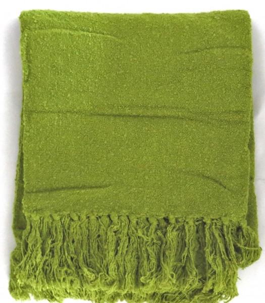 Decke Sommerdecke Grün Franzen Gewebt Overseas Van Ball Textiles