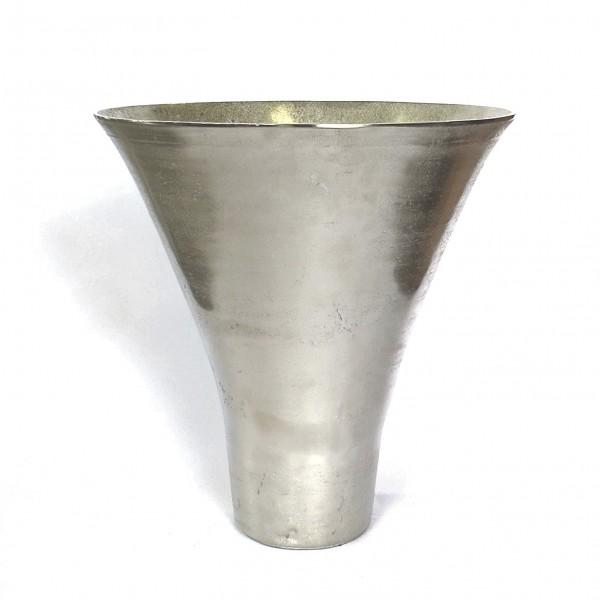 Bodenvase Vase Silber Modern Trichterform Metall Deko Colmore 42 cm 001-15-1284-L