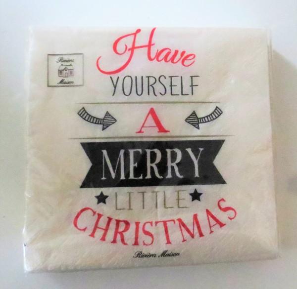 Servietten Riviera Maison Have Yourself A Merry Christmas 20 Stück 16,5 x 16,5 cm