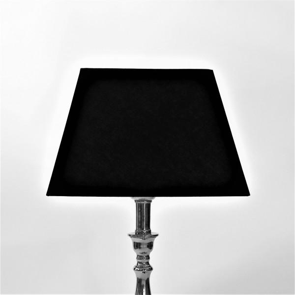 Lampenschirm schwarz quadratisch Baumwolle 25 x 17 x 17 cm Colmore