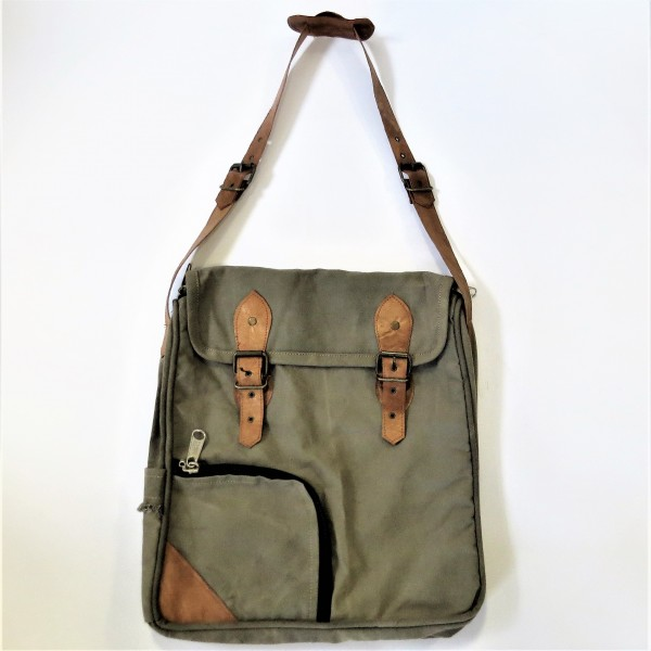 Tasche Damentasche Umhängetasche Collegetasche khaki braun 34 x 40 cm
