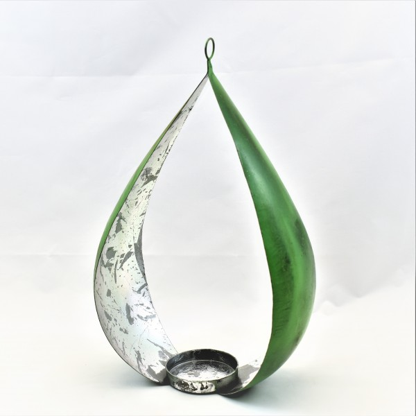 Bogenteelicht Teelicht grün Blech