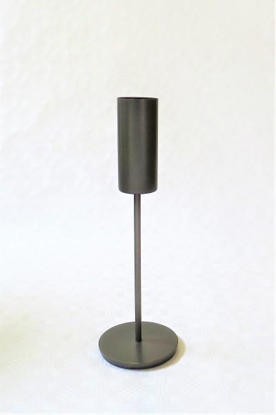 Teelichthalter Kerzenständer Metall schwarz 10 x 30 cm Light & Living 6190215