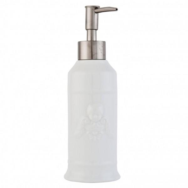 Clayre & Eef Seifenspender Pumpspender weiß Keramik Engel 21x7 cm 63031