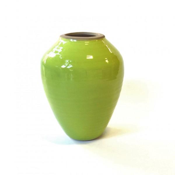Vase Grün Modern Ton Frühling Ostervase 20 cm