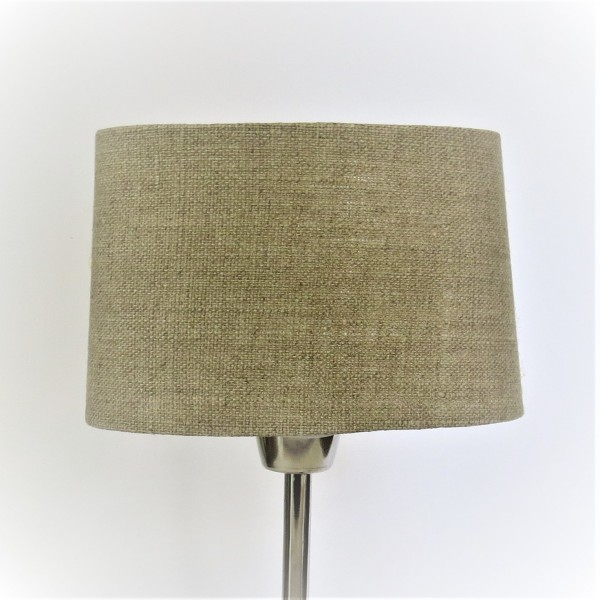 Lampenschirm Leuchtenschirm Oval Natur Linen Beige Colmore 20 x 10 cm E27