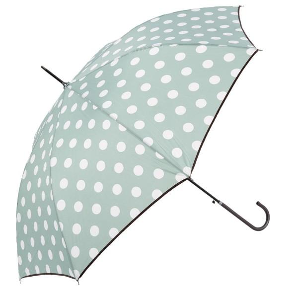 Regenschirm Punkte Mint Grün Clayre & Eef JZUM0004G 98 x 55 cm