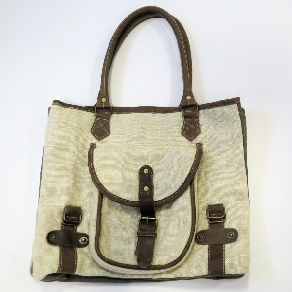 Handtasche Damentasche Tasche beige Stoff Pinelake Lodge Natur 38 x 32 cm