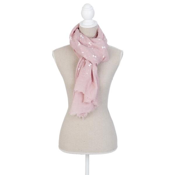 Schal Halstuch Tuch Rosa mit Schleife und Punkten Clayre & Eef