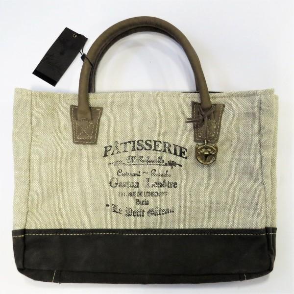 Handtasche Damentasche Tasche beige braun Stoff 32 x 25 cm Pinelake LODGE