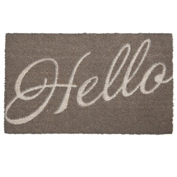 Fußmatte Eingangsmatte Fußabstreifer 75 x 45 cm Hello Kokos Clayre & Eef MC090