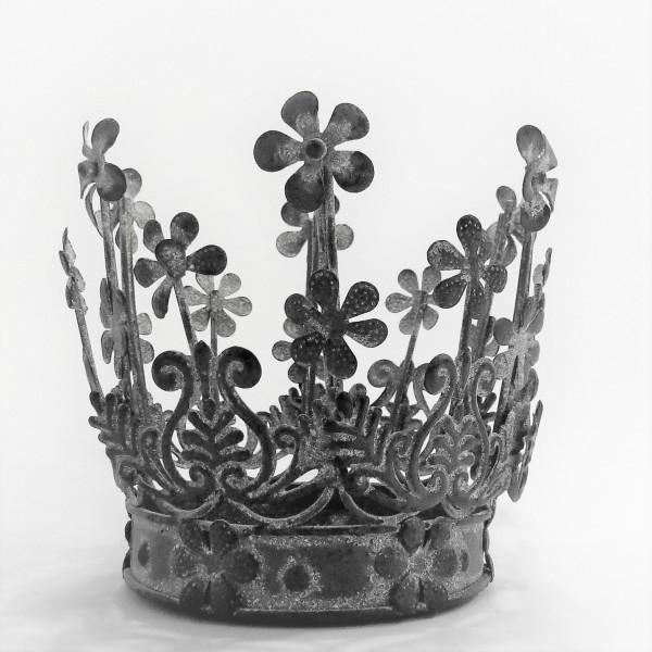 Krone Eisenkrone Teelichthalter Dekokrone Clayre & Eef 9 / 12 cm