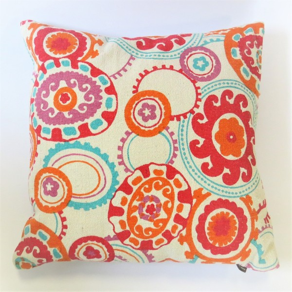Kissen Dekokissen Hippie Linen & More Colour Jam retro 45 x 45 cm pink orange Baumwolle