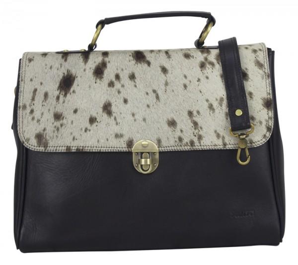 Tasche Leder Damen Aktentasche Business Fell Laptop Umhängetasche Elegant