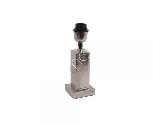 Lampe Lampenfuß Tisch Modern Silber Quadratisch 26 cm Colmore E27