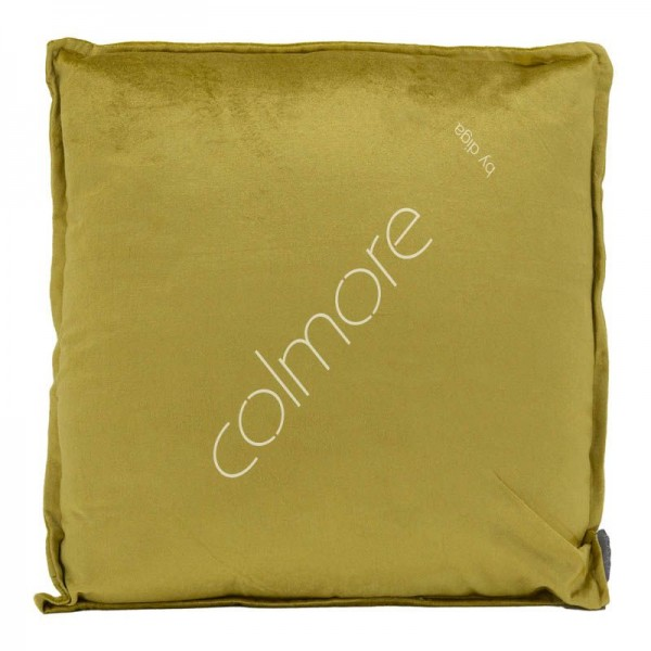 Kissen Deko Zier Sofa Samt Ocker Gold Gelb Senffarben 50x50 cm Colmore Modern