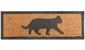 Fußmatte Türmatte Fußabstreifer Kokosmatte Katze Esschert Design 25 x 74 cm