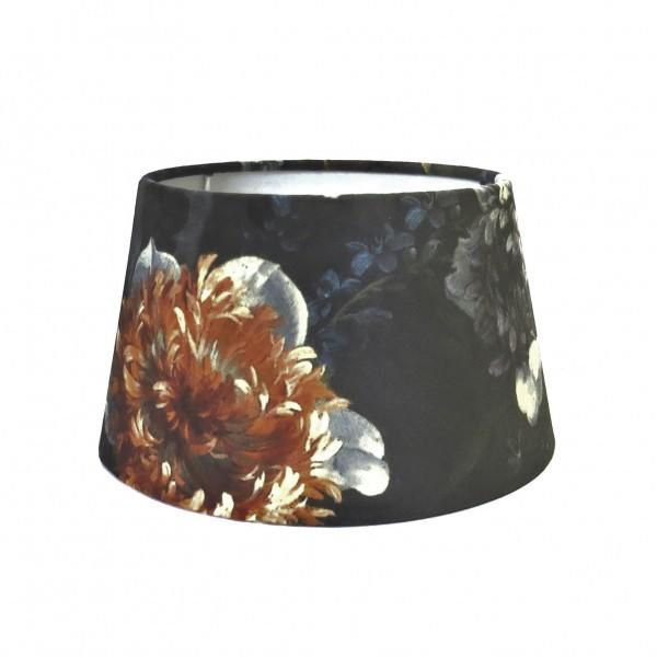 Lampenschirm Leuchtenschirm Blumen Muster Bunt Samt Halbhoch Modern Colmore Ruben E27