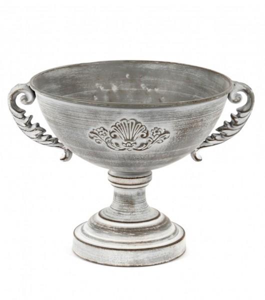Übertopf Schale Vase Antik Grau Deko Garten Shabby Metall Scheulen GmbH