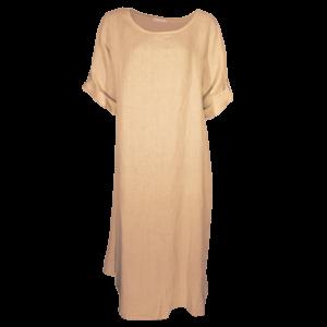 Kleid Tunika Leinen Camel Größe XL - XXL Übergröße