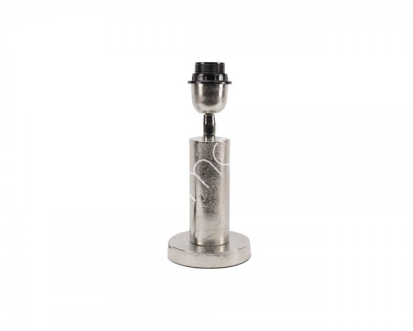 Lampe Lampenfuß Tisch Modern Metall Rund Silber Colmore 26 cm E27