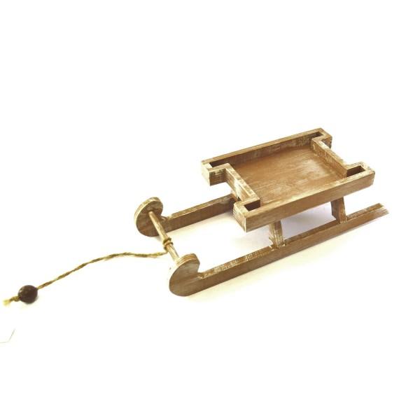 Deko Weihnachten Schlitten Holz Hänger 29 cm