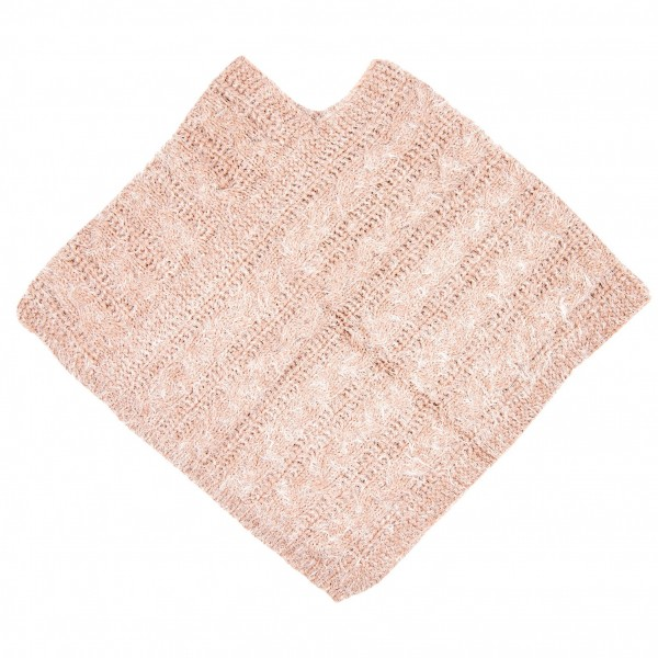 Poncho Schal soft 60 x 65 cm pink Clayre & Eef JZPO0009