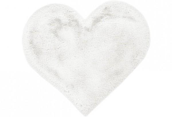 Teppich Fell Läufer Herz Weiß Bad Kinder me gusta 60 x 70 cm