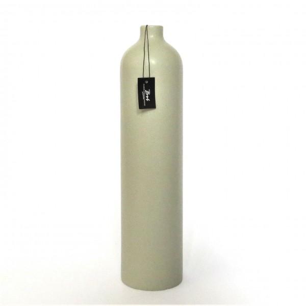 Deko Vase Modern Grau Matt Keramik 36 cm Säule Bob Design