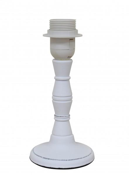 Lampe Lampenfuß Weiß Holz Landhaus Shabby E27 10 x 21 cm