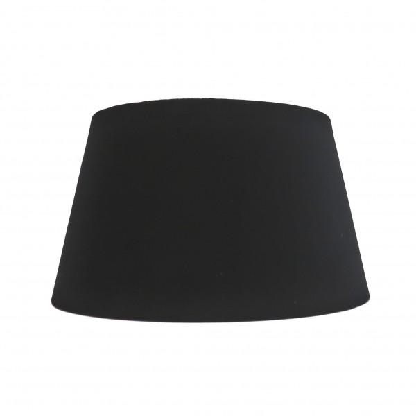 Lampenschirm Tisch Schwarz Samt Modern Halbhoch Colmore E27 25x19x14 cm