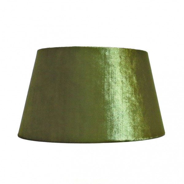 Lampenschirm Leuchtenschirm Grün Samt Modern Colmore Moos Halbhoch 25x19x14 cm E27