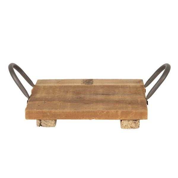 Untersetzer Deko Holz Zink Tisch Küche Modern Clayre & Eef Quadratisch 20x20 cm