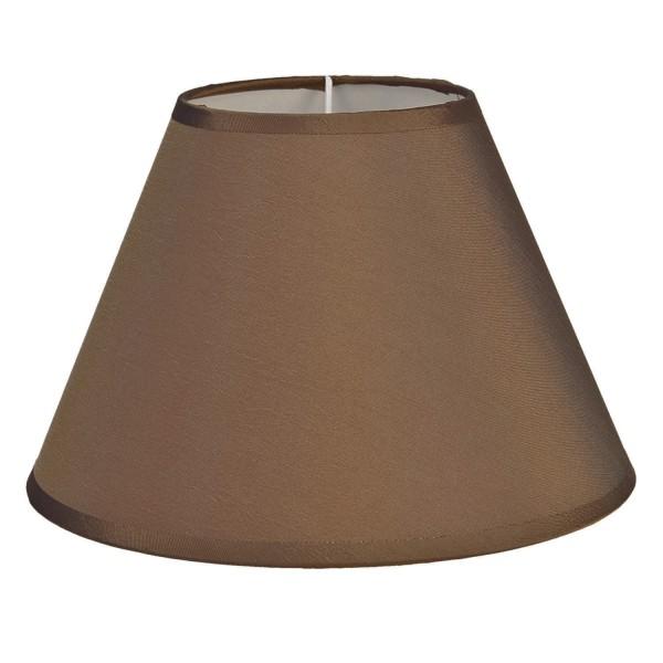 Lampenschirm Leuchtenschirm Hellbraun Clayre & Eef 25x16 cm 6LAK0468BE E27
