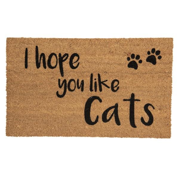 Fußmatte Türmatte Fußabstreifer Eingang Matte Cats Katze Modern Clayre & Eef