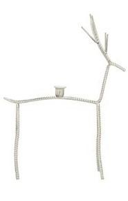 Kerzenständer Hisch Skulptur Deko Figur Metall Weiß Kerzenhalter Exner Junker 26x9x43 cm