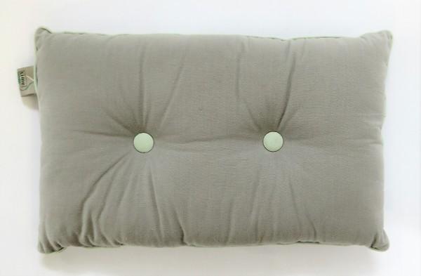Lime Light Sitzkissen Kissen Dekokissen Zierkissen CUGIFT 50 x 30 cm grau grün Baumwolle