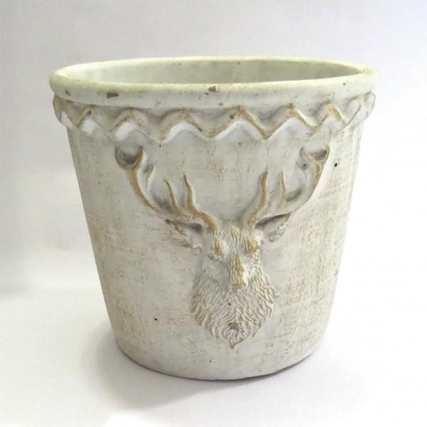 Blumentopf Übertopf Deko Topf Shabby Weiß Gerry´s Garden 19cm