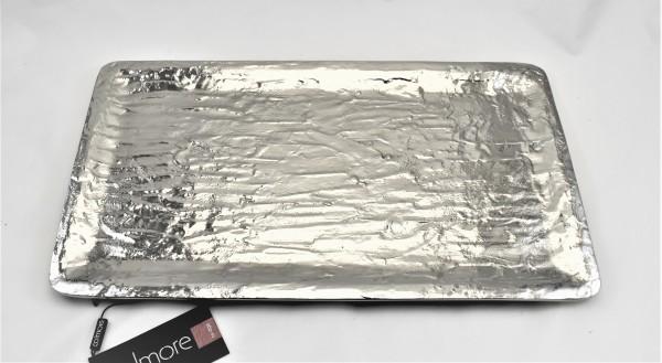 Servierplatte Schale Tablett Colmore silber 44,5 x 25 cm 069-17-20848