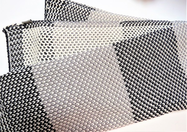 Home Delight Strickdecke Decke Kuscheldecke grautöne - beige 130x170 cm Baumwolle