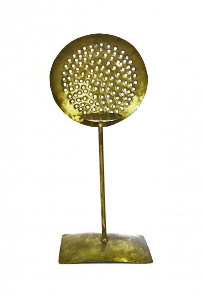 Teelichthalter Teelichtständer Kerzenständer Gold Handarbeit Blech Modern Industrial Style 42 cm