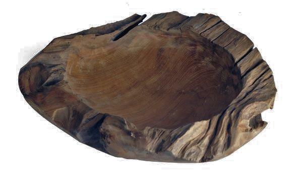 Schale Holz Deko Natur Rustikal XL Tisch Weihnachten Echtholz 37 cm