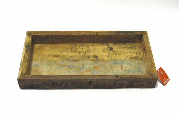 Tablett Holz Schale Untersetzer Rechteckig Natur 50x25 cm Mark Hoogendam