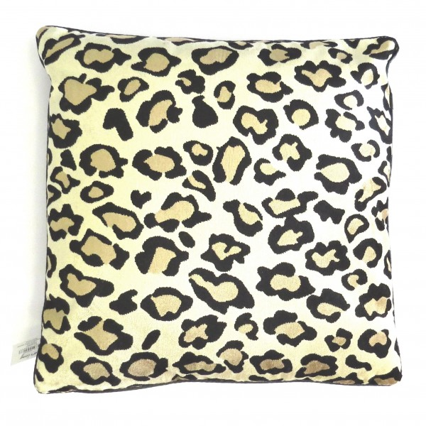 Kissen Leoparden Muster Samt Light & Living 43 x 43 cm Dekokissen Sofakissen